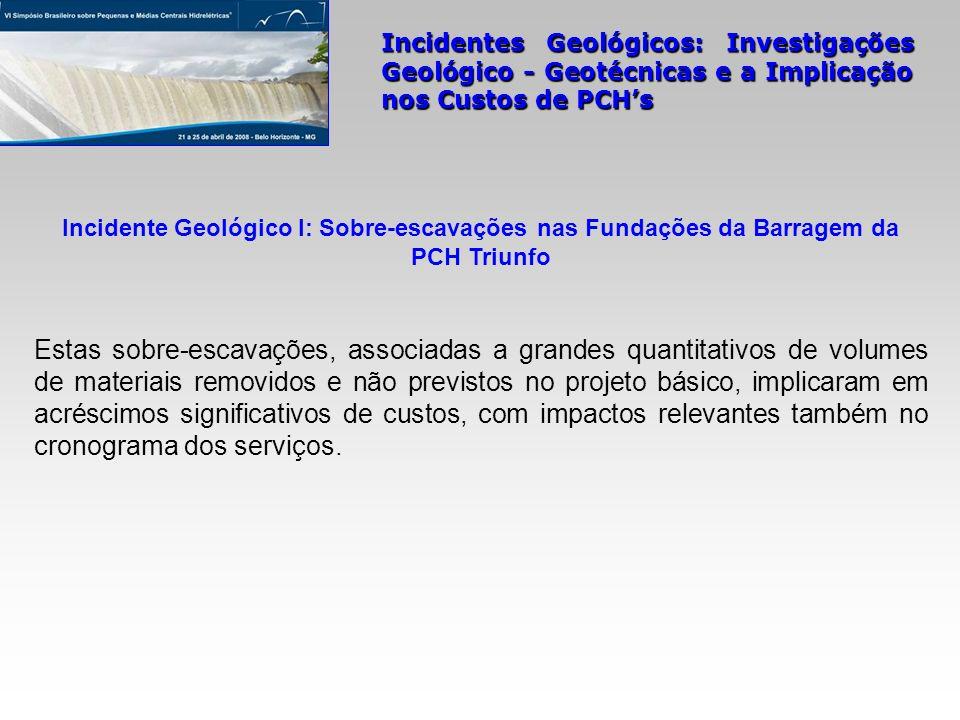 Incidente Geológico I: Sobre-escavações nas Fundações da Barragem da PCH Triunfo