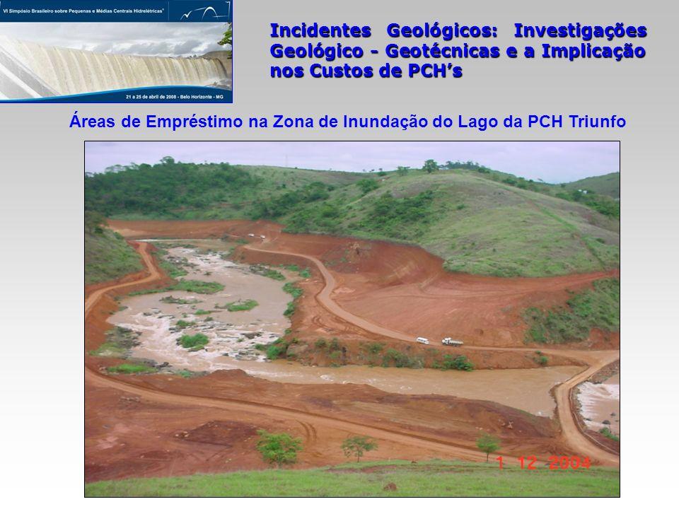 Áreas de Empréstimo na Zona de Inundação do Lago da PCH Triunfo