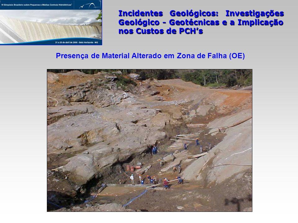 Presença de Material Alterado em Zona de Falha (OE)