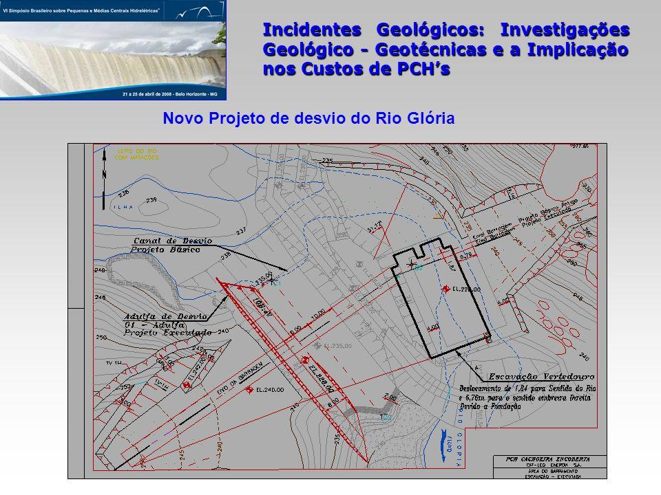 Novo Projeto de desvio do Rio Glória
