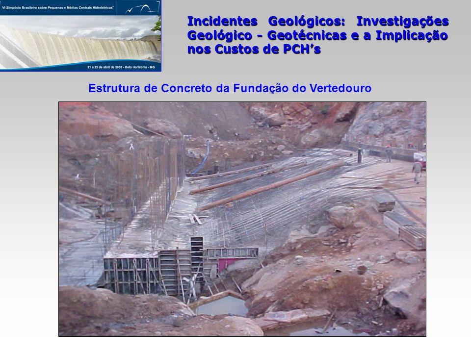 Estrutura de Concreto da Fundação do Vertedouro