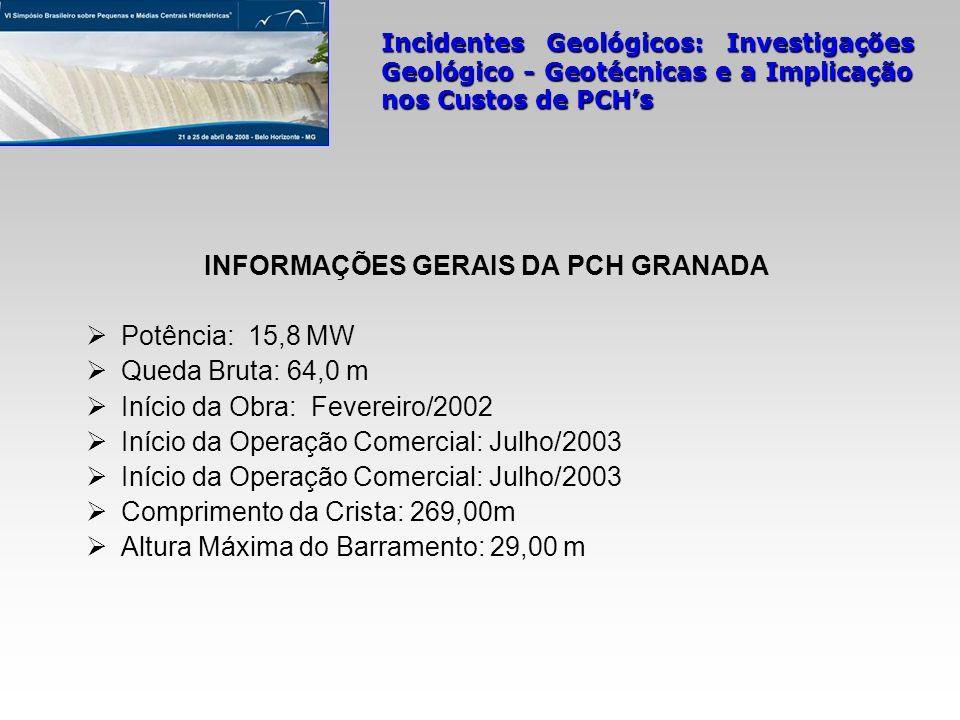 INFORMAÇÕES GERAIS DA PCH GRANADA