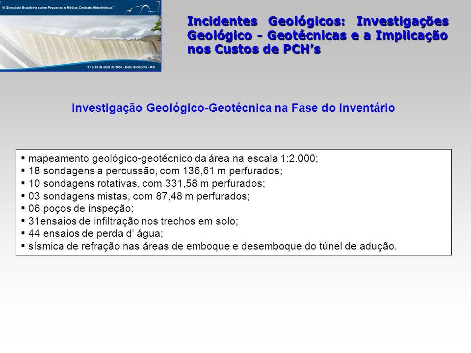 Investigação Geológico-Geotécnica na Fase do Inventário