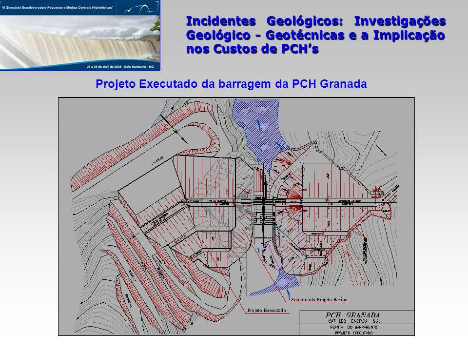 Projeto Executado da barragem da PCH Granada