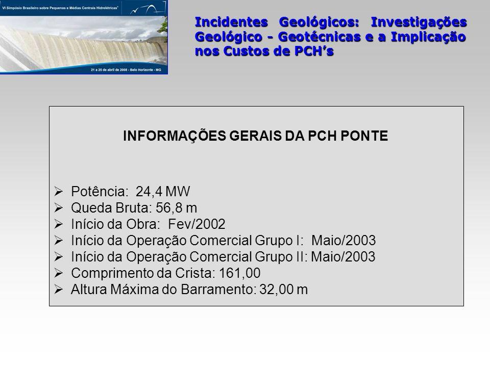 INFORMAÇÕES GERAIS DA PCH PONTE