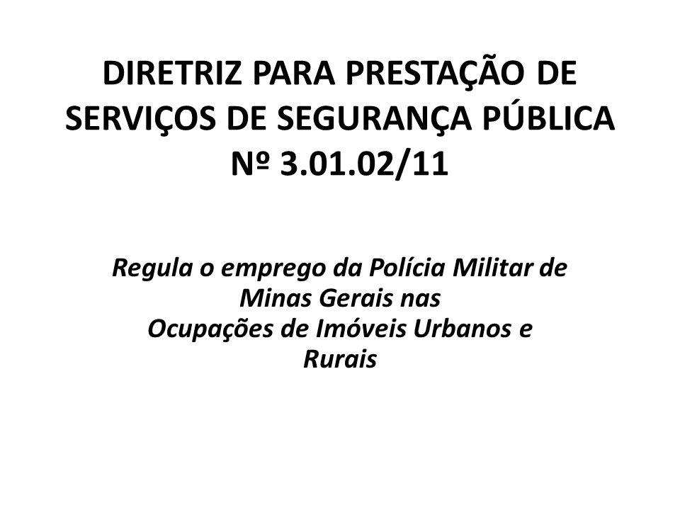 DIRETRIZ PARA PRESTAÇÃO DE SERVIÇOS DE SEGURANÇA PÚBLICA Nº 3.01.02/11