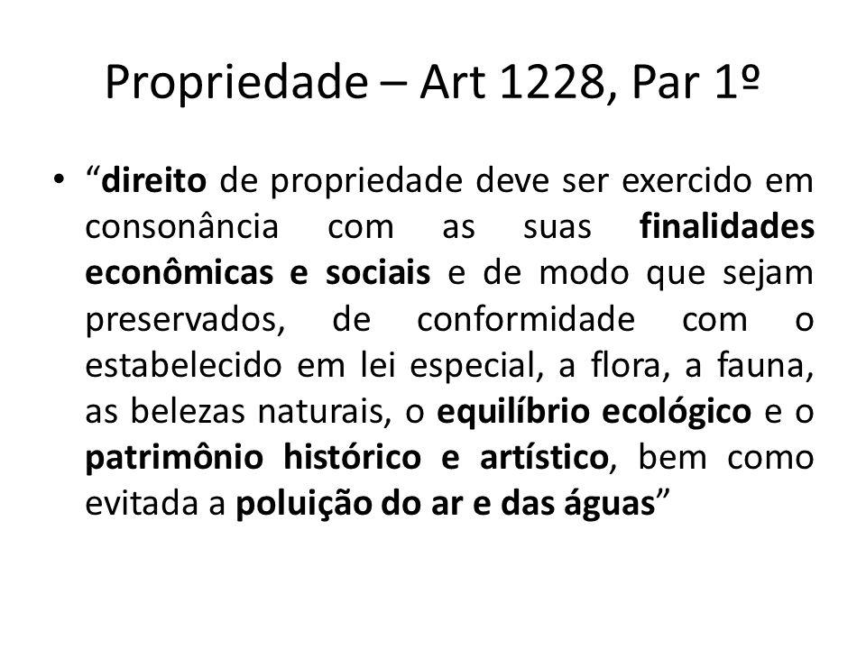 Propriedade – Art 1228, Par 1º