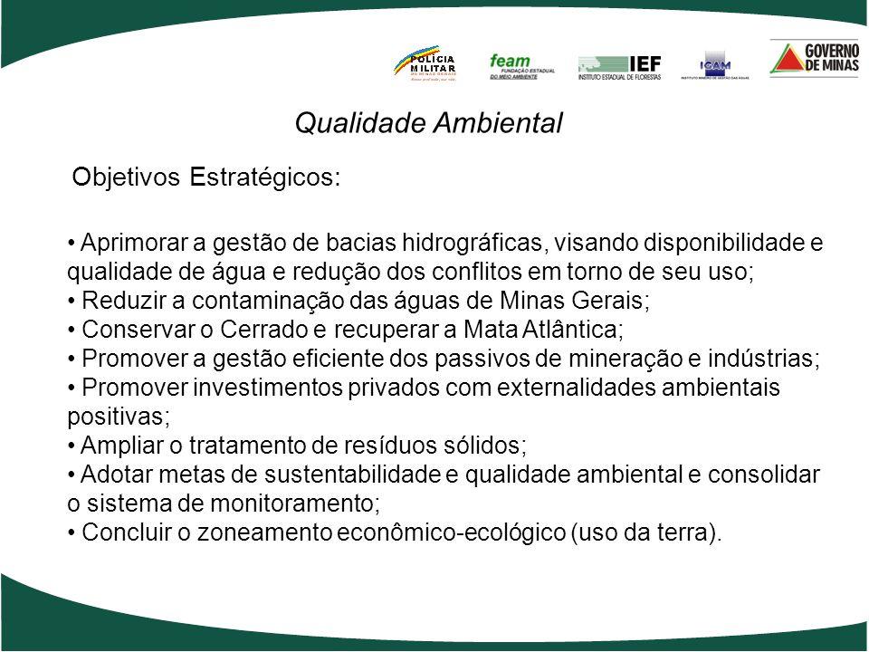 Qualidade Ambiental Objetivos Estratégicos: