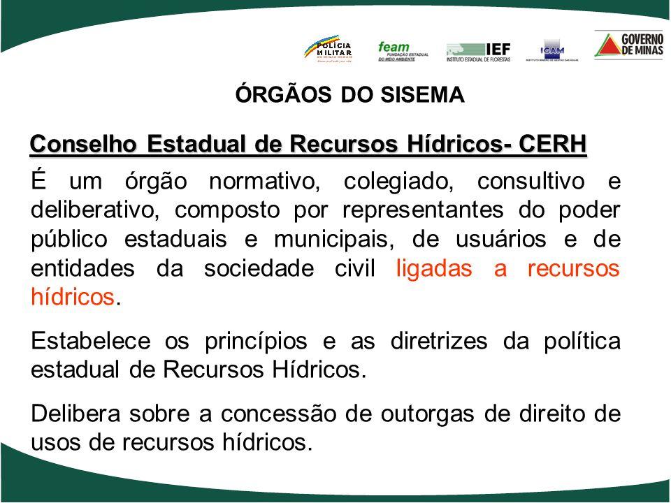 Conselho Estadual de Recursos Hídricos- CERH
