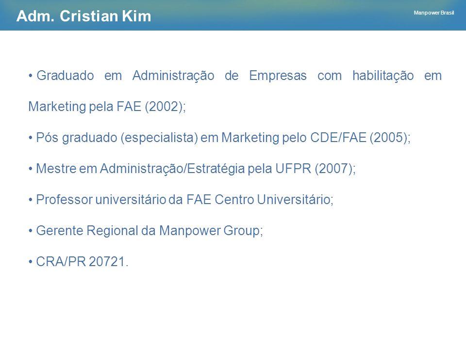 Adm. Cristian Kim Graduado em Administração de Empresas com habilitação em Marketing pela FAE (2002);