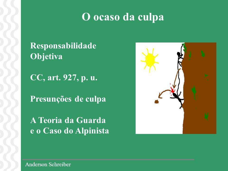 O ocaso da culpa Responsabilidade Objetiva CC, art. 927, p. u.
