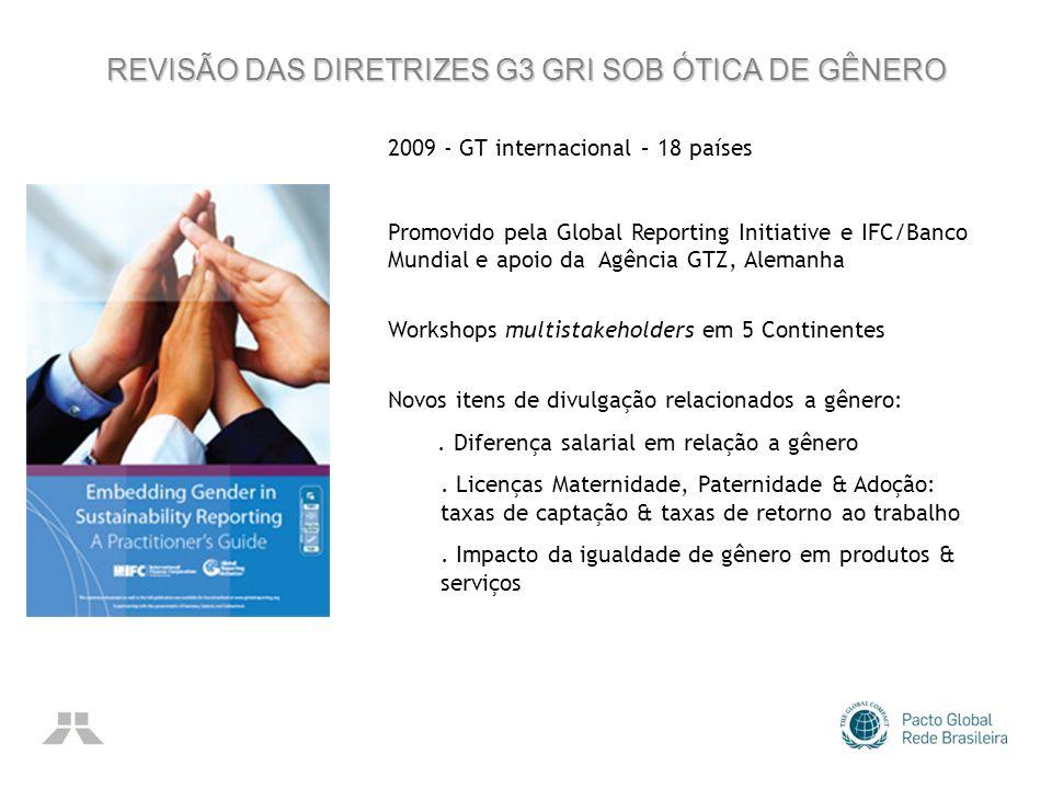 REVISÃO DAS DIRETRIZES G3 GRI SOB ÓTICA DE GÊNERO