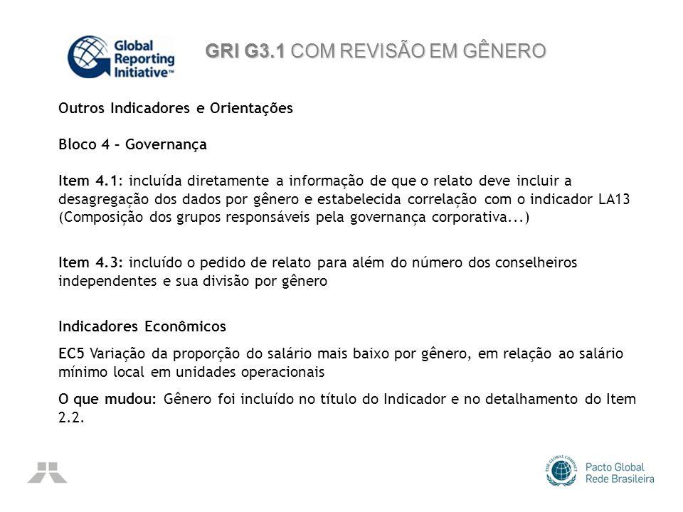 GRI G3.1 COM REVISÃO EM GÊNERO