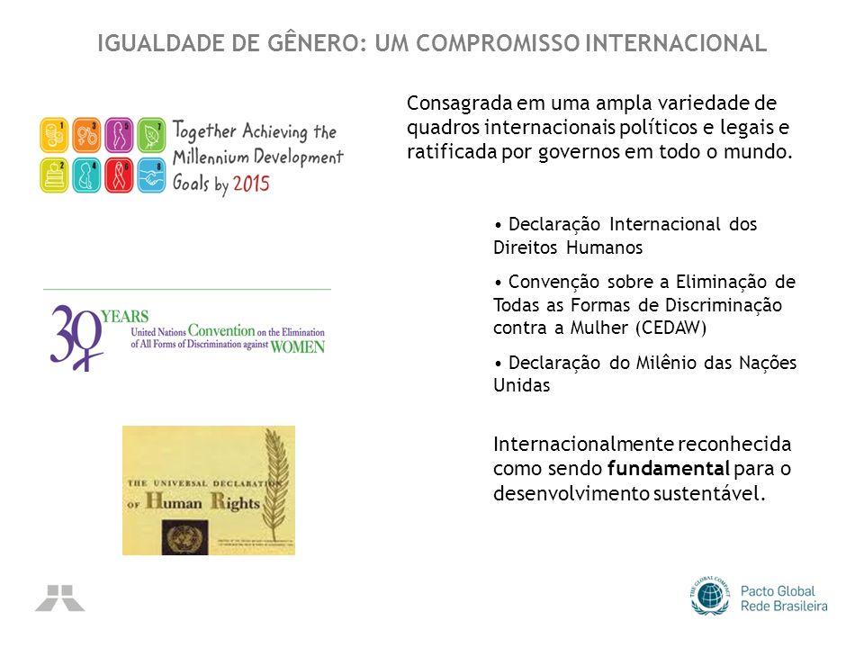 IGUALDADE DE GÊNERO: UM COMPROMISSO INTERNACIONAL