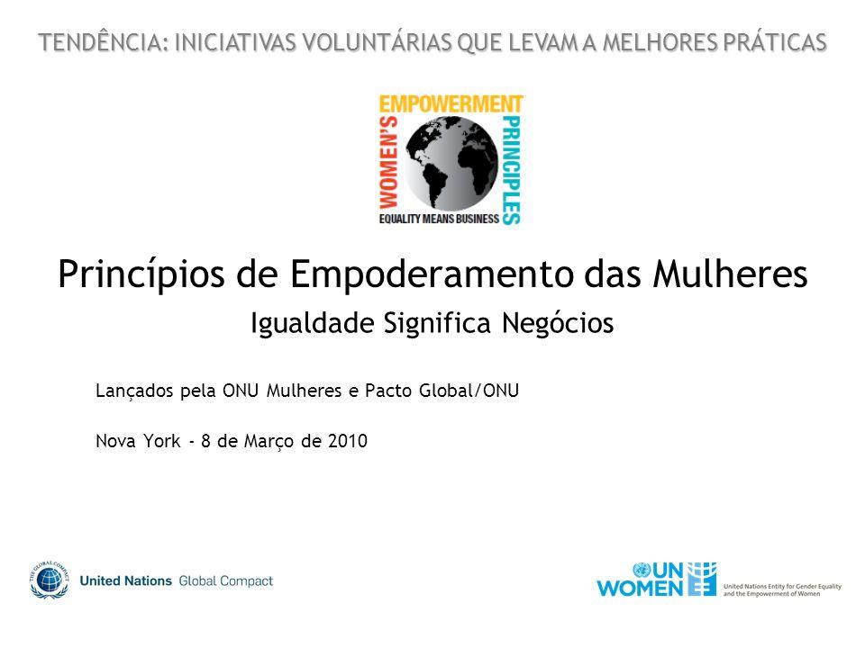 Princípios de Empoderamento das Mulheres