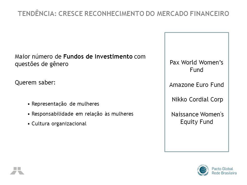 TENDÊNCIA: CRESCE RECONHECIMENTO DO MERCADO FINANCEIRO