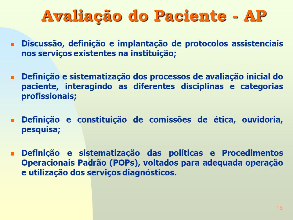 Avaliação do Paciente - AP