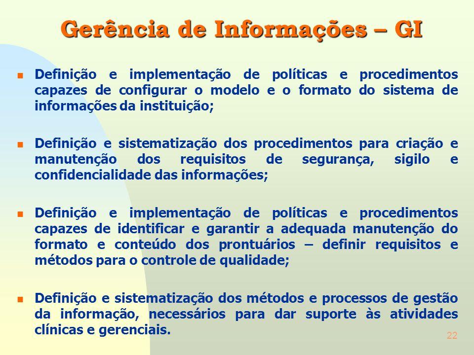 Gerência de Informações – GI