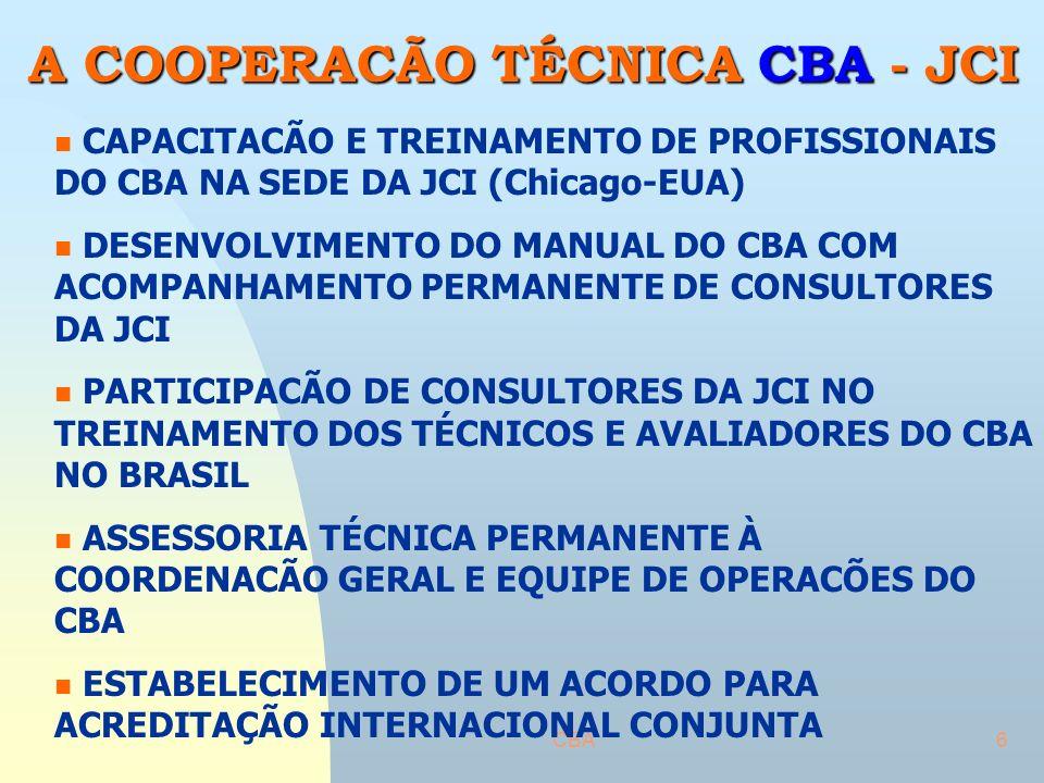 A COOPERACÃO TÉCNICA CBA - JCI