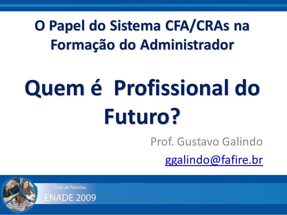 Prof. Gustavo Galindo ggalindo@fafire.br