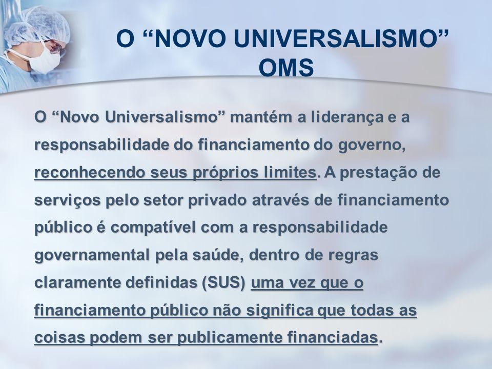 O NOVO UNIVERSALISMO OMS