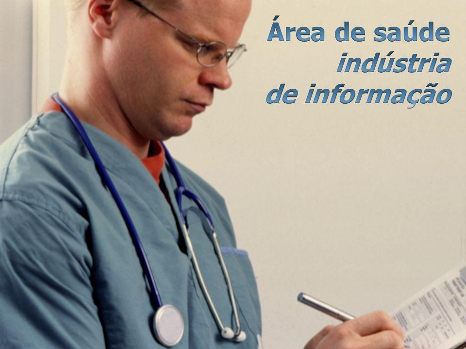 Área de saúde indústria de informação
