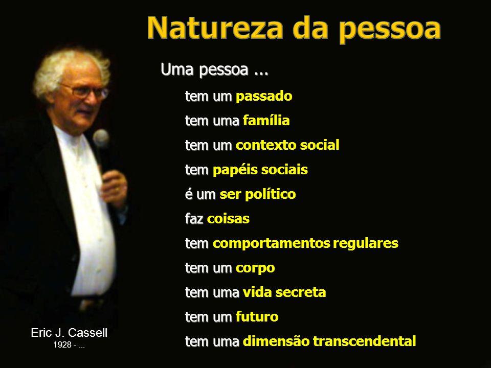 Natureza da pessoa Uma pessoa ... tem um passado tem uma família