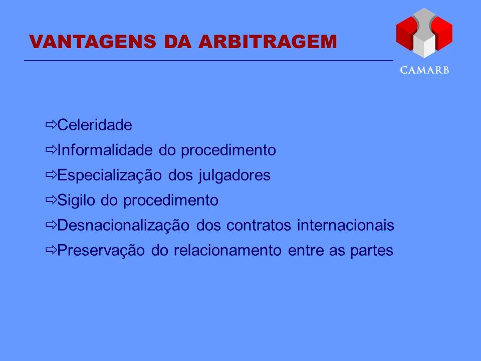 VANTAGENS DA ARBITRAGEM