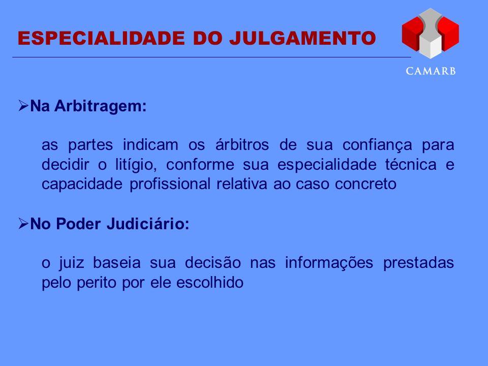 ESPECIALIDADE DO JULGAMENTO