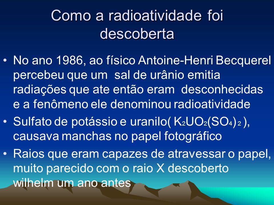 Como a radioatividade foi descoberta