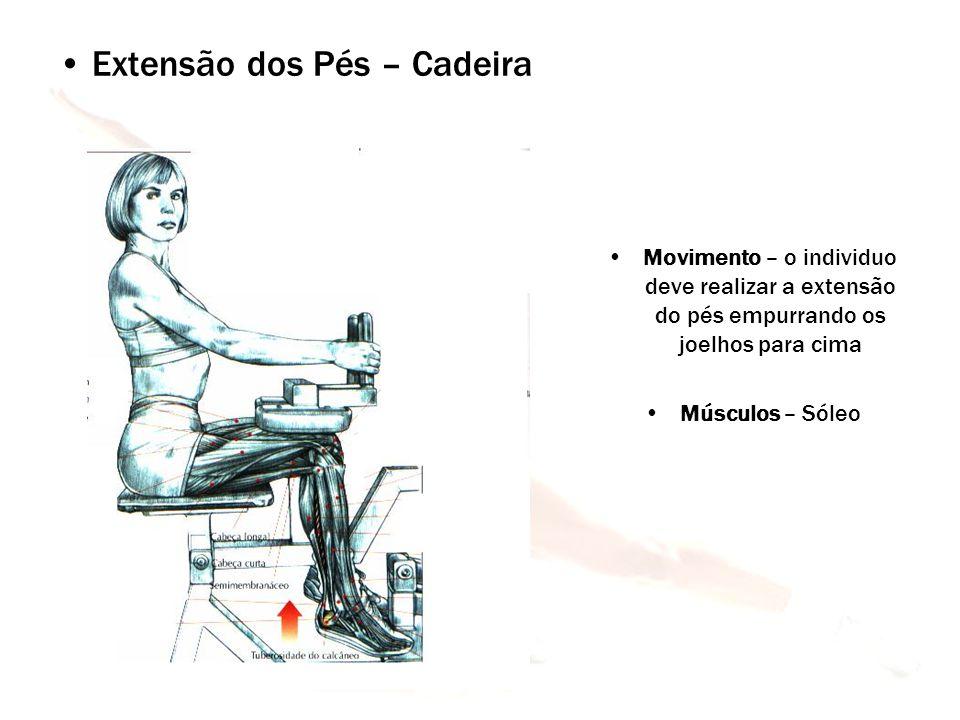 Extensão dos Pés – Cadeira