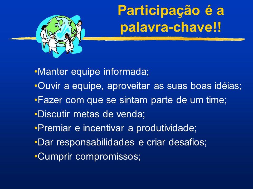Participação é a palavra-chave!!