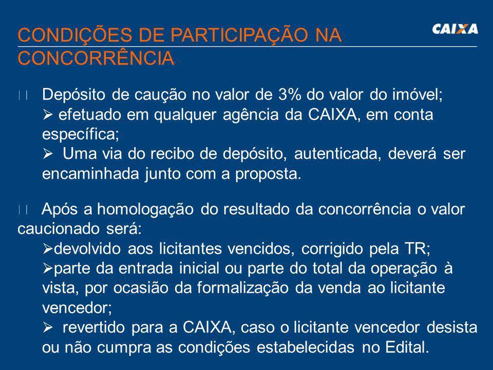 CONDIÇÕES DE PARTICIPAÇÃO NA CONCORRÊNCIA