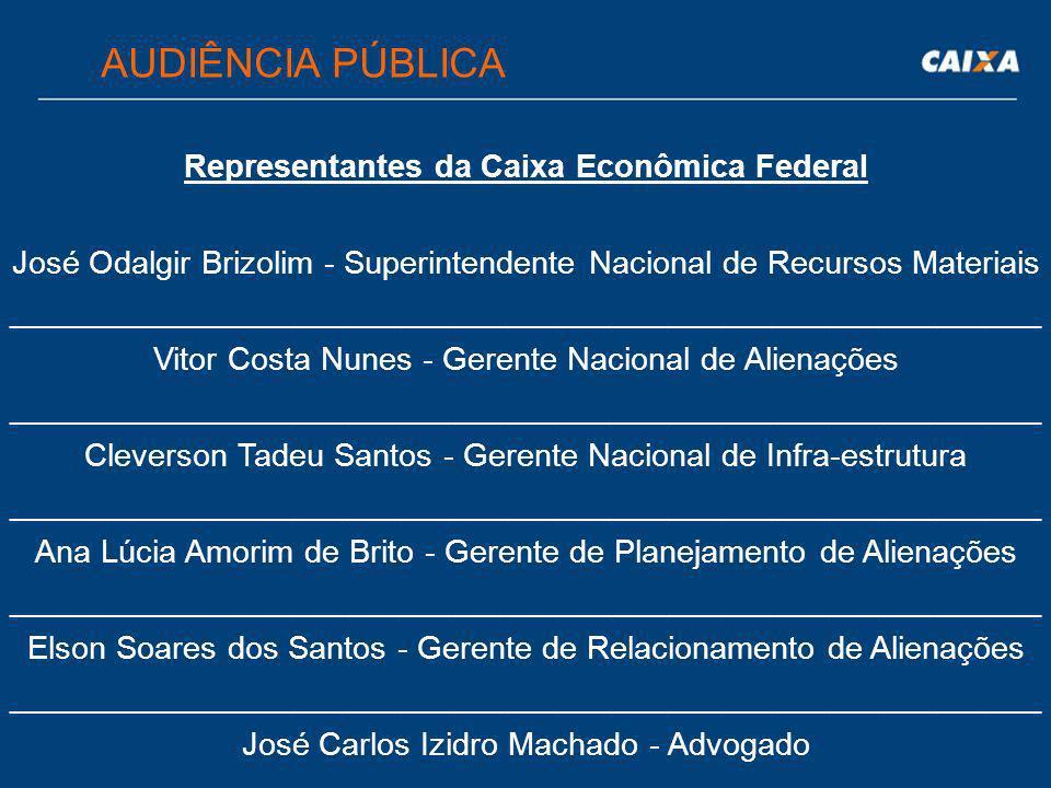 Representantes da Caixa Econômica Federal