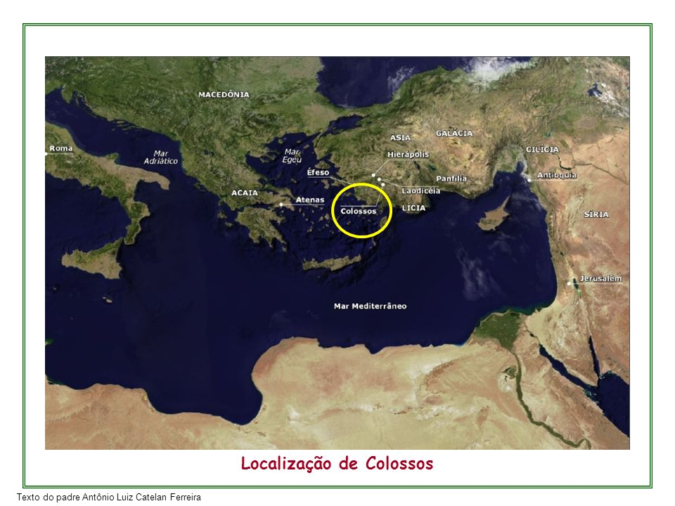 Localização de Colossos