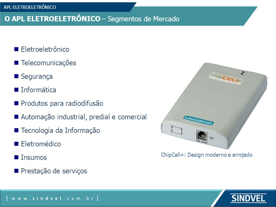 ChipCell+: Design moderno e arrojado