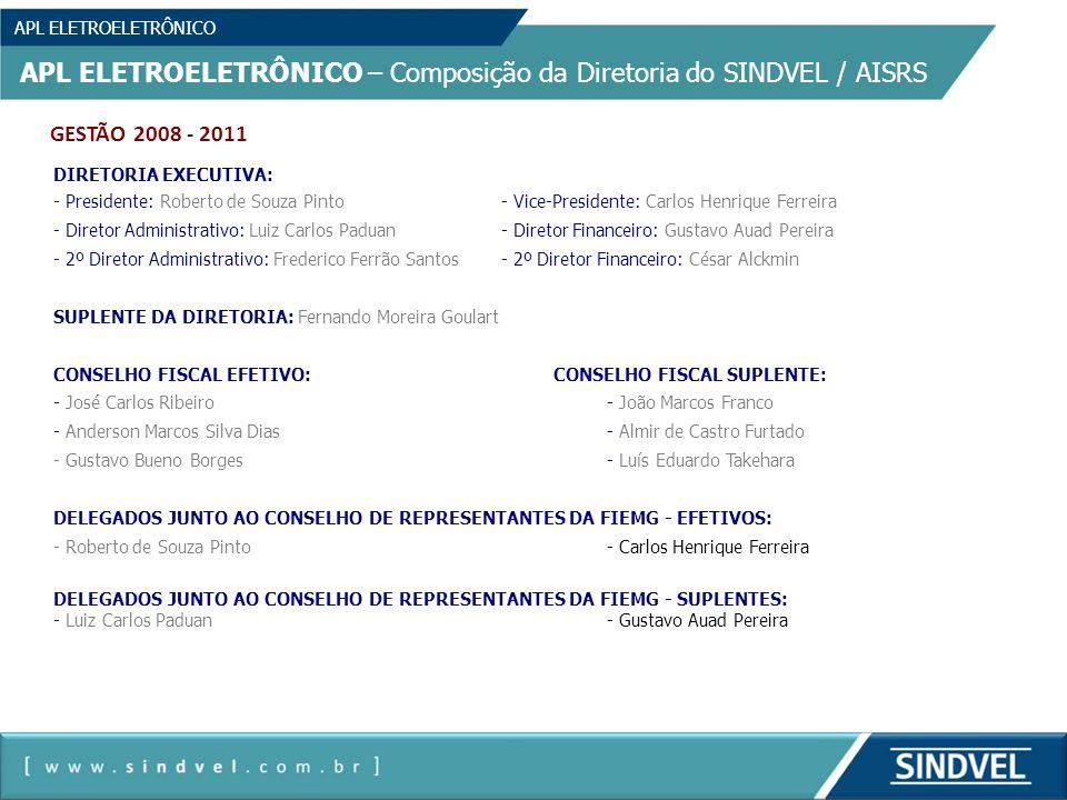 APL ELETROELETRÔNICO – Composição da Diretoria do SINDVEL / AISRS