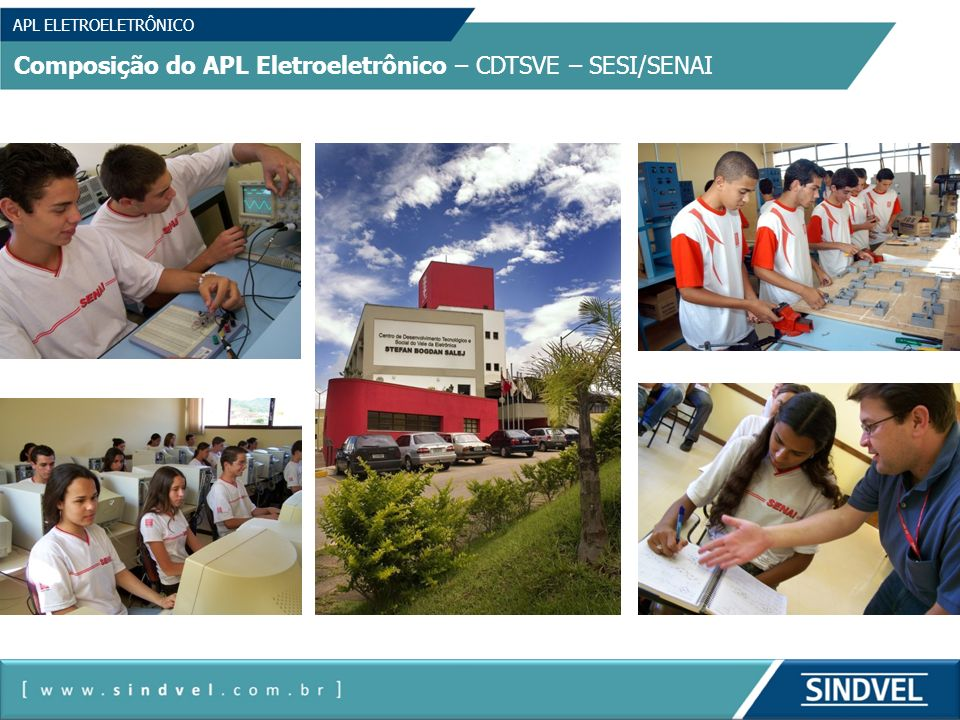 Composição do APL Eletroeletrônico – CDTSVE – SESI/SENAI