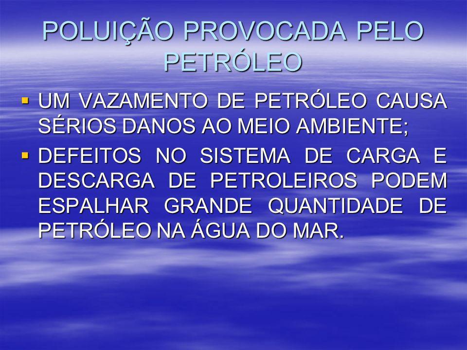 POLUIÇÃO PROVOCADA PELO PETRÓLEO