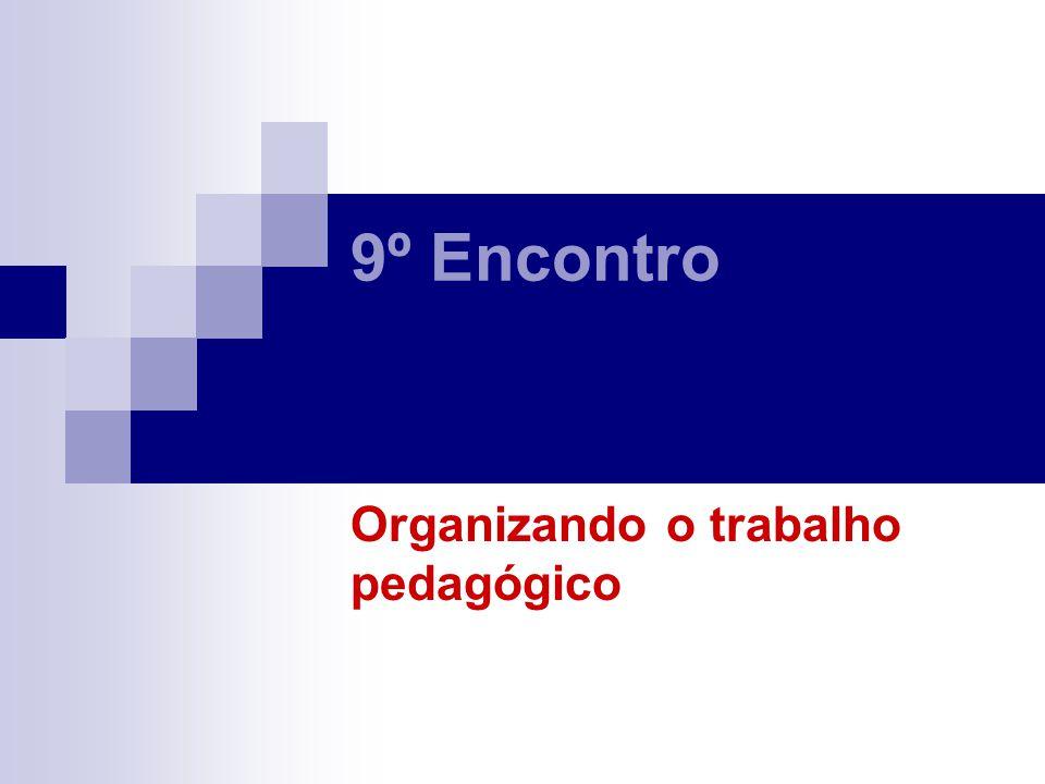 Organizando o trabalho pedagógico