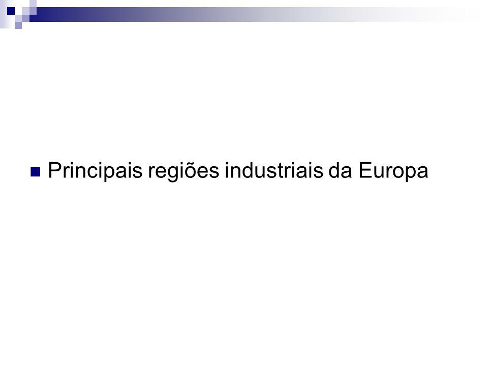 Principais regiões industriais da Europa