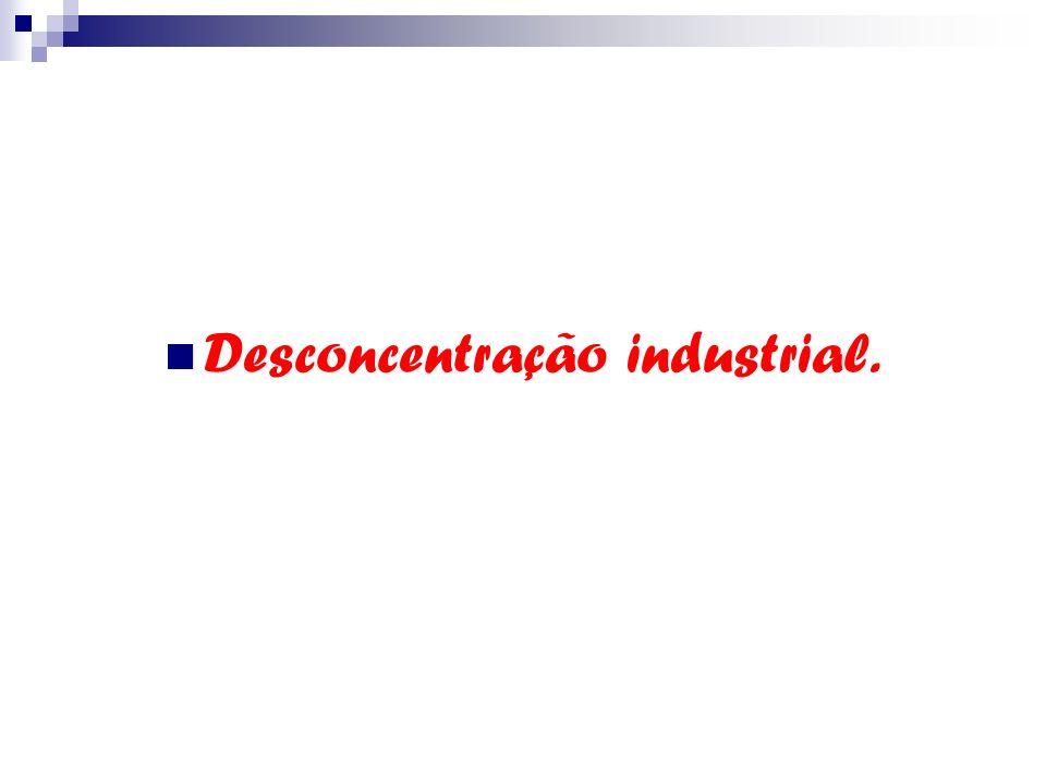 Desconcentração industrial.