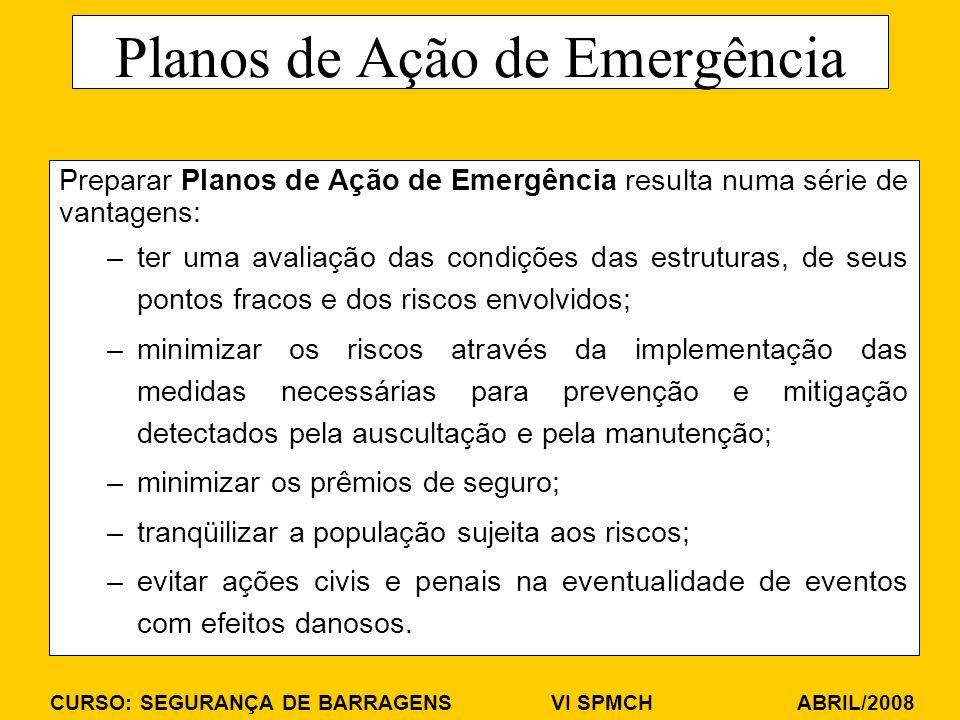 Planos de Ação de Emergência