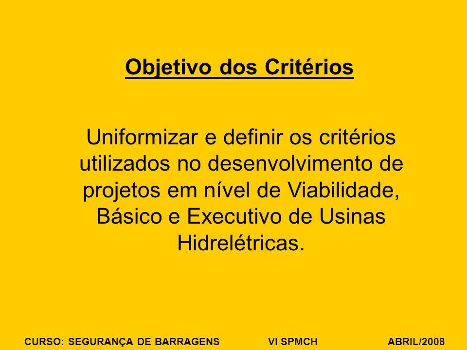 Objetivo dos Critérios