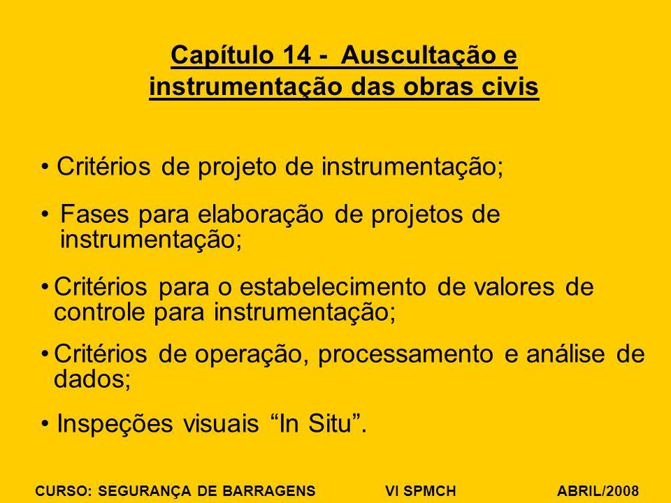 Capítulo 14 - Auscultação e instrumentação das obras civis