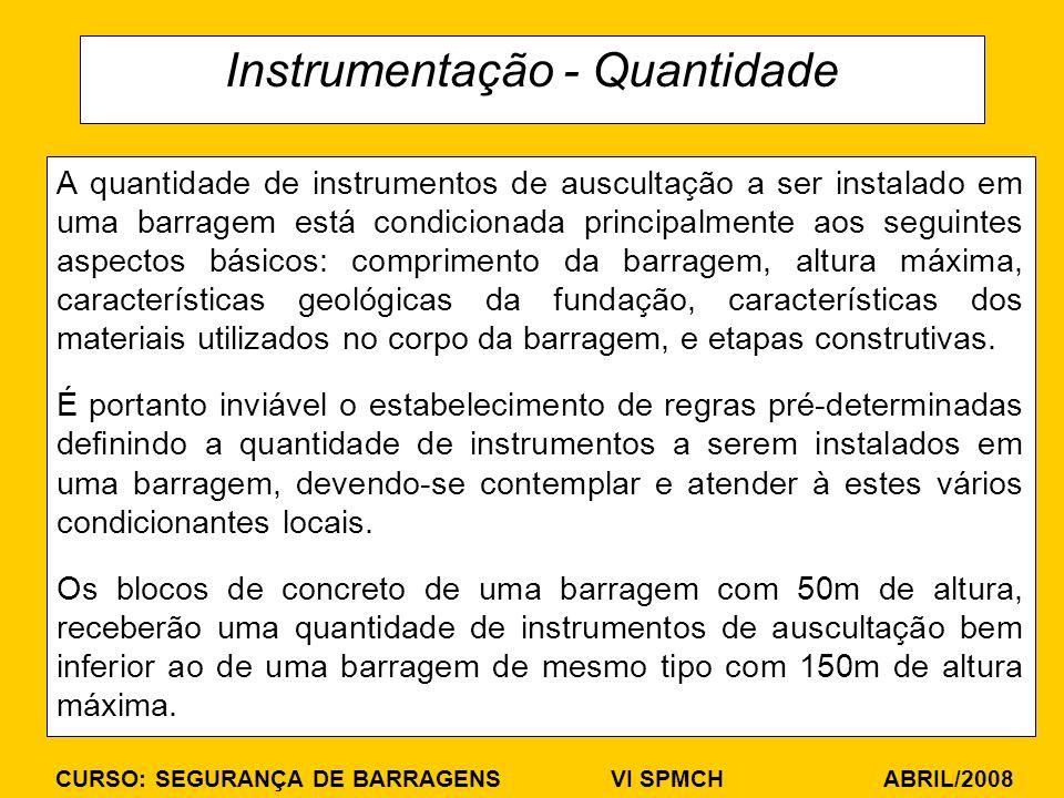 Instrumentação - Quantidade