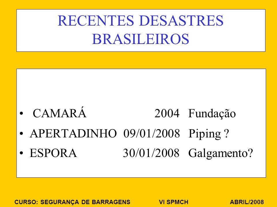 RECENTES DESASTRES BRASILEIROS