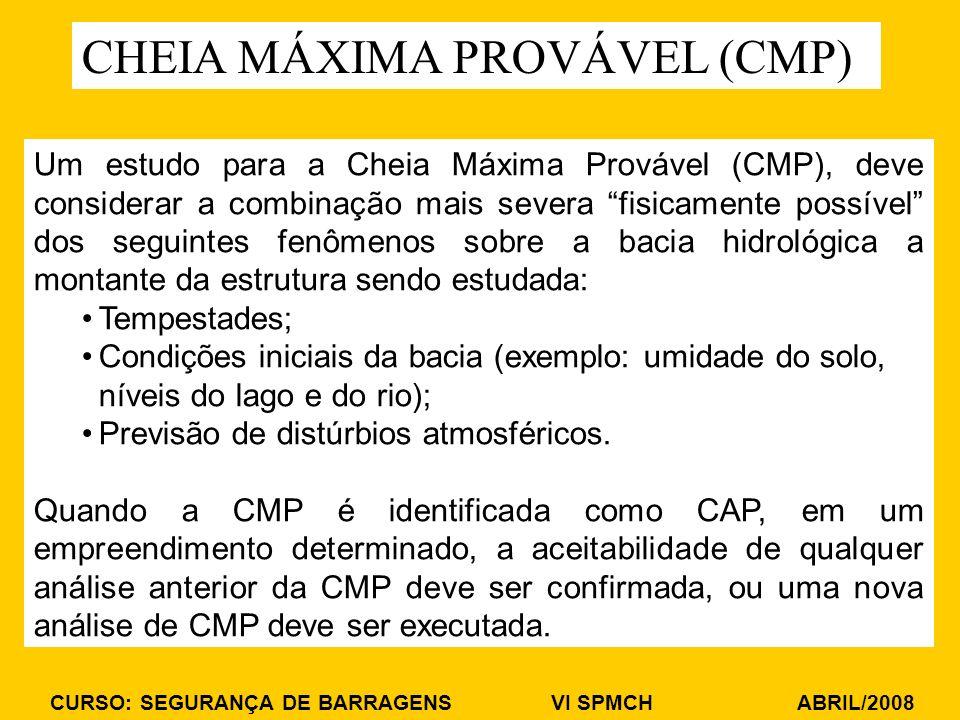 CHEIA MÁXIMA PROVÁVEL (CMP)