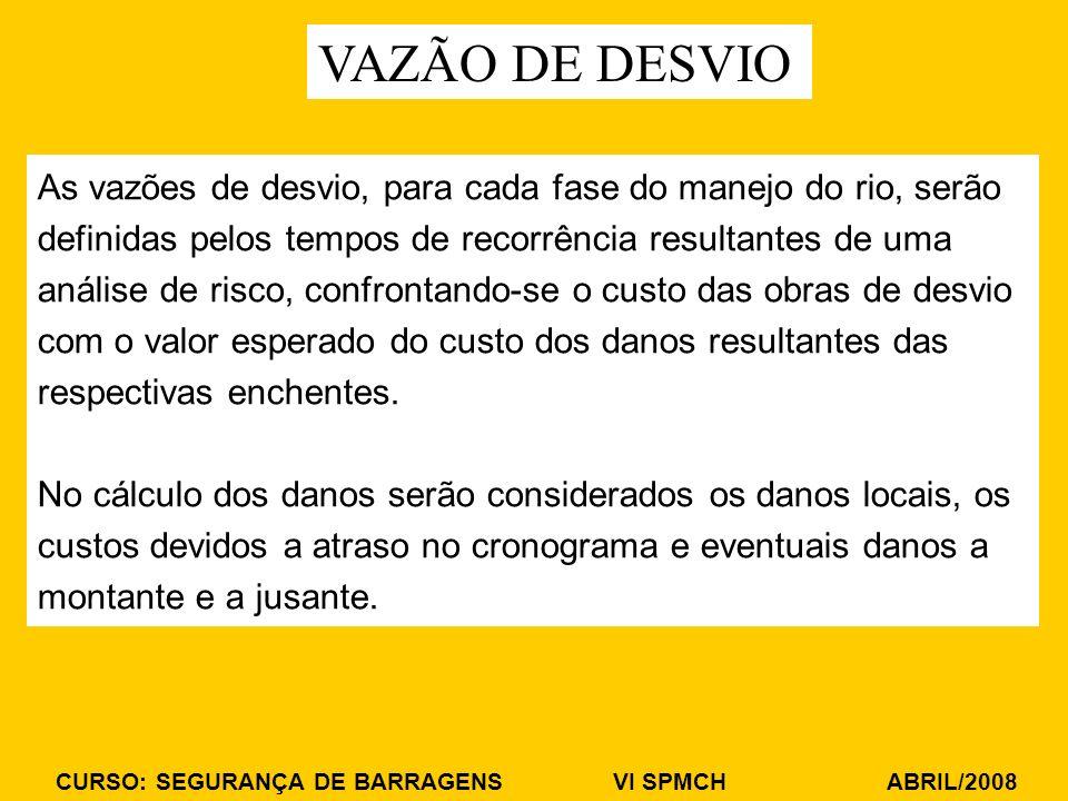 VAZÃO DE DESVIO