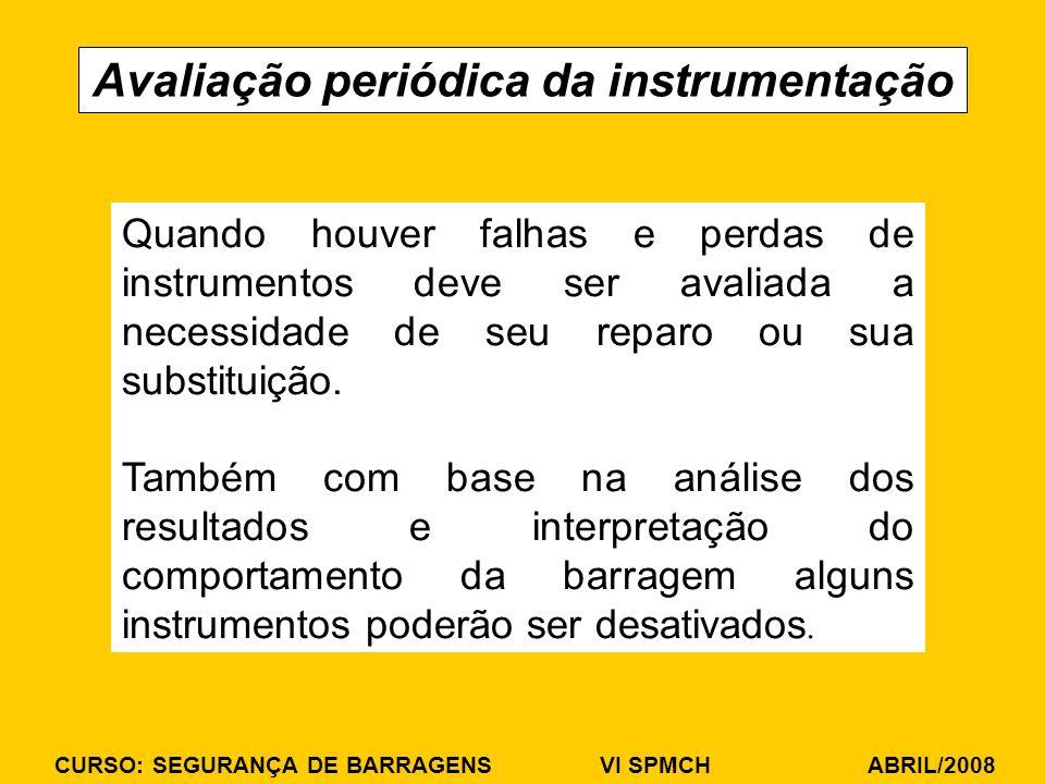 Avaliação periódica da instrumentação
